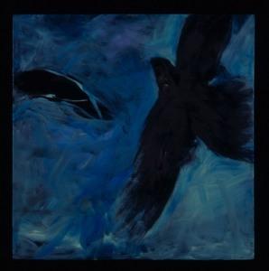 Black crow in Blue sky, 2006, oil on canvas, 30 x 30%22 jpg copy